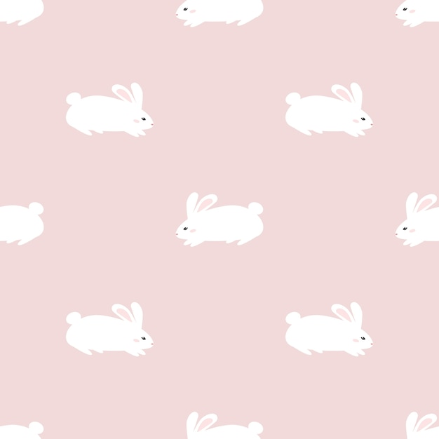 Lindo conejo conejito de patrones sin fisuras papel tapiz ...