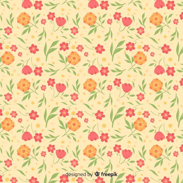 Lindo fondo floral ditsy vector gratuito