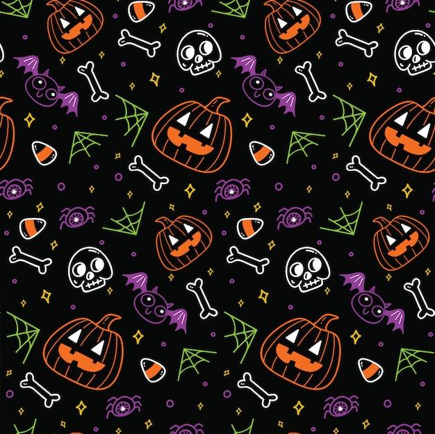 Lindo fondo transparente de halloween Vector Premium
