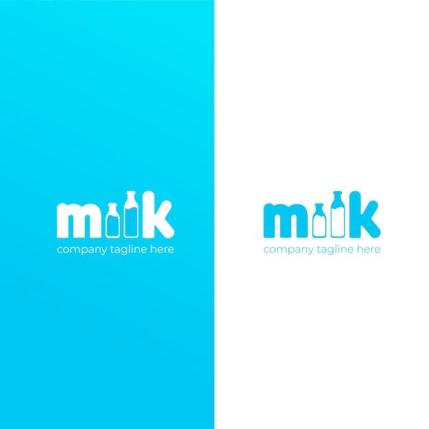 Un lindo logo simple para la marca de leche de vaca. vector gratuito