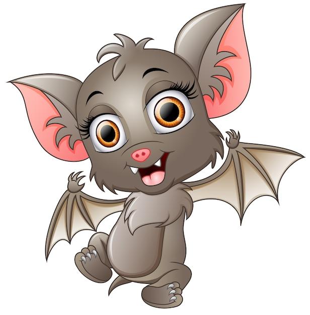 Lindo Murciélago De Dibujos Animados Agitando Descargar Vectores