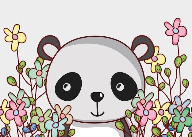 Lindo Oso Panda Doodle Dibujos Animados