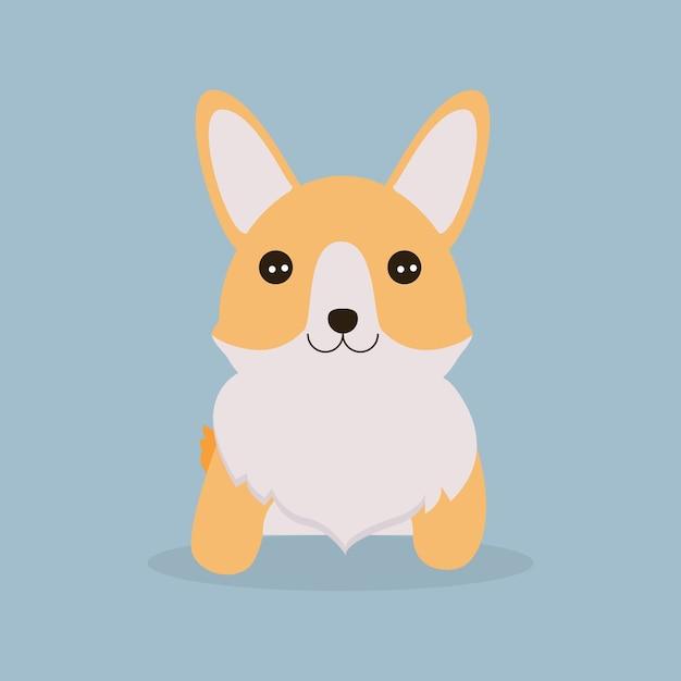 Lindo perro corgi | Descargar Vectores Premium