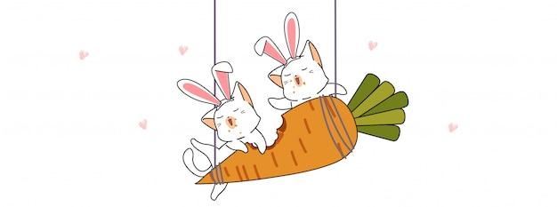 Los Lindos Conejos Estan Comiendo Zanahoria Grande Vector Premium Sé el primero en valorar zanahoria grande cancelar la respuesta. https www freepik es profile preagreement getstarted 6967277