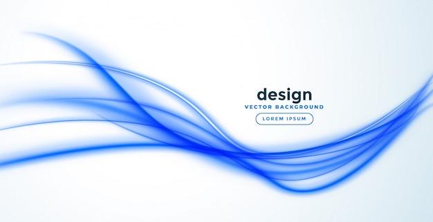 Línea azul abstracta diseño de banner de onda vector gratuito