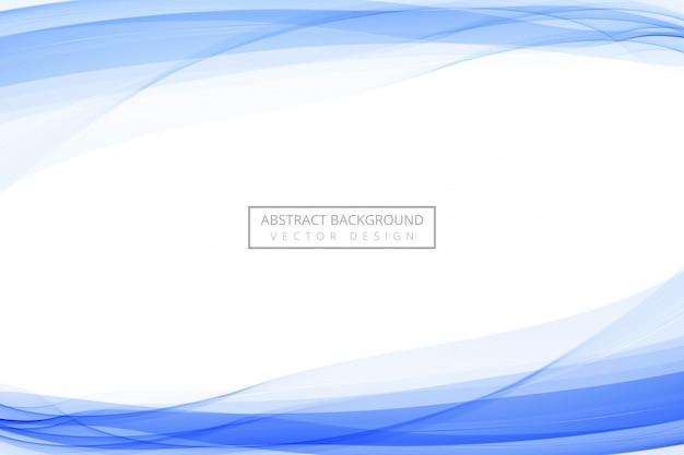 Línea azul abstracta que fluye fondo de onda azul vector gratuito