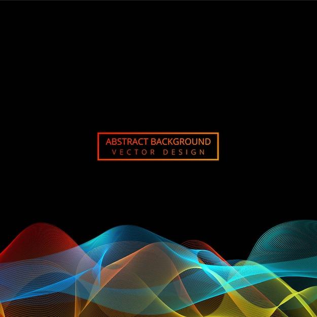 Línea colorida abstracta vector de fondo de onda Vector Premium