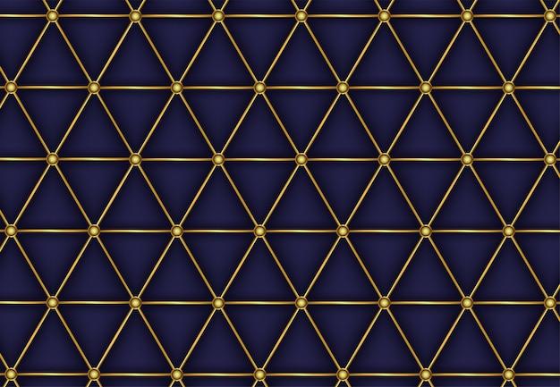 Línea dorada de lujo abstracto patrón poligonal Vector Premium