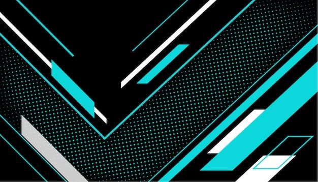 Línea geométrica con fondo de medios tonos vector gratuito