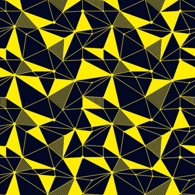 Línea geométrica sin patrón Vector Premium
