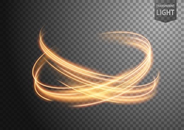 Línea de luz ondulada oro abstracto Vector Premium