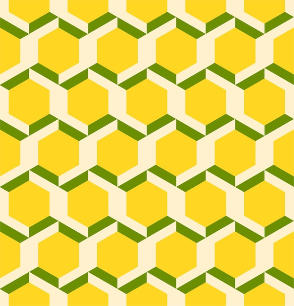 Líneas 3d geométricas abstractas de patrones sin fisuras hexágono Vector Premium