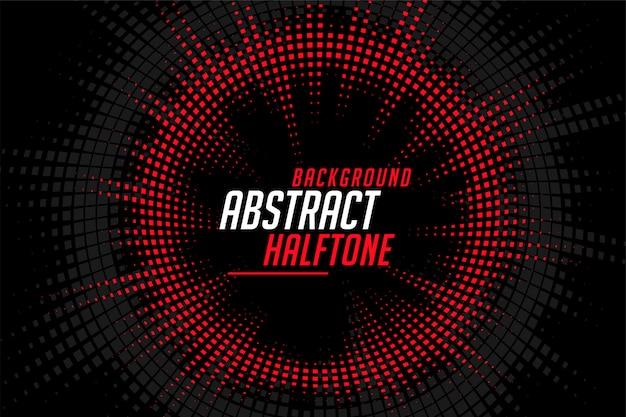 Líneas circulares de semitono abstracto rojo negro de fondo vector gratuito