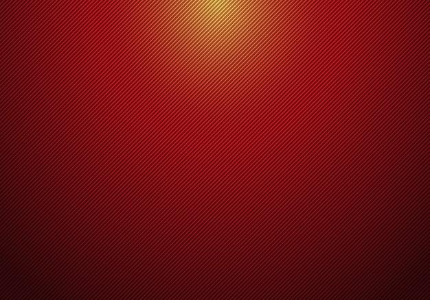 Líneas diagonales abstractas rayas fondo rojo Vector Premium