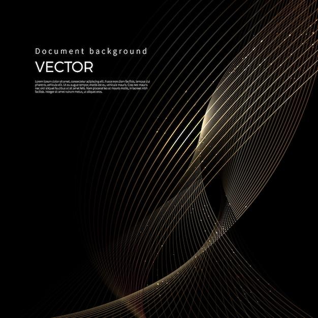 Líneas doradas de lujo, fondo de línea abstracta Vector Premium