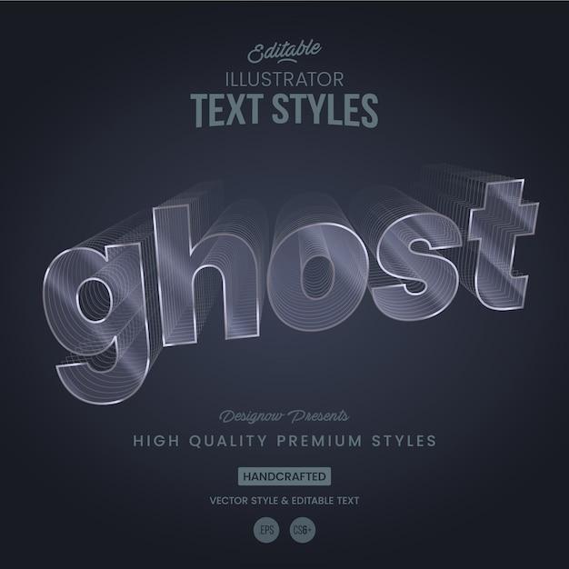 Líneas fantasmales de estilo tex Vector Premium