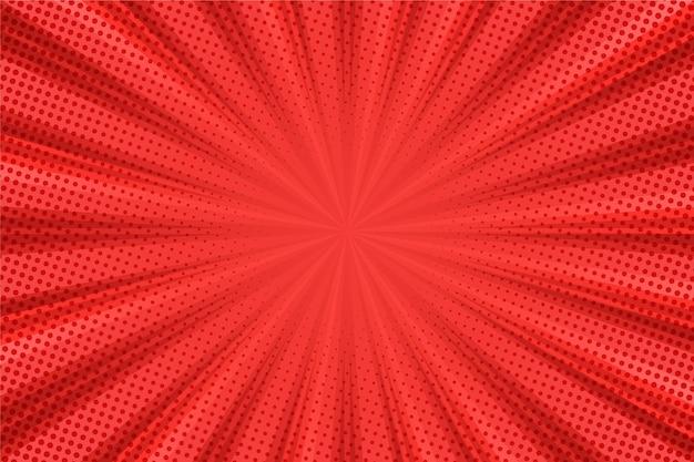 Líneas de fondo rojo abstracto de semitono vector gratuito