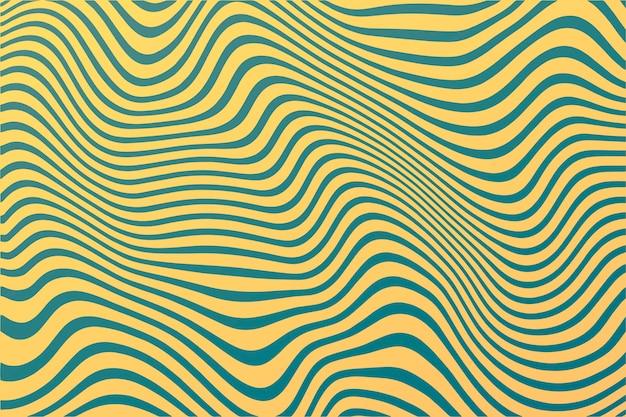 Líneas onduladas de fondo maravilloso psicodélico vector gratuito