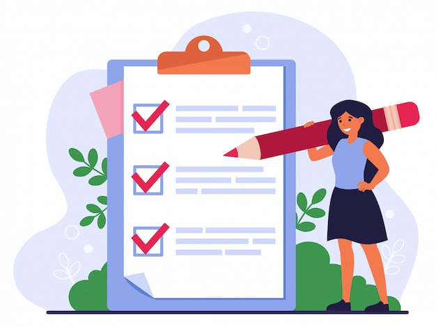 Lista de verificación o concepto de encuesta vector gratuito