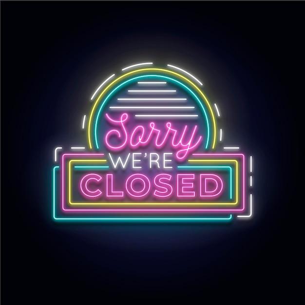 'lo siento, estamos cerrados' cartel en la pared de ladrillo Vector Premium