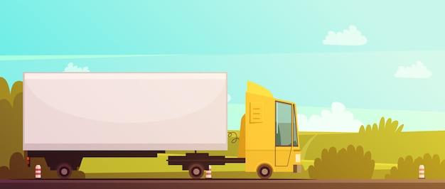 Logística y entrega fondo de dibujos animados vector gratuito