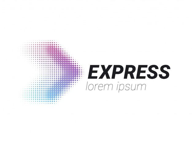 Logística logo flecha entrega urgente Vector Premium
