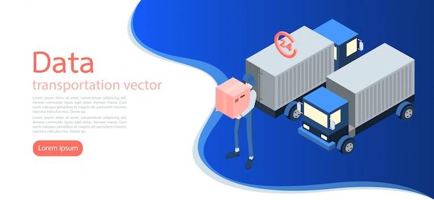 Logistica y repartidor y repartidor. Vector Premium