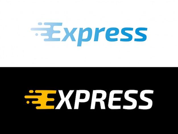 Logística de transporte logotipo de entrega urgente Vector Premium