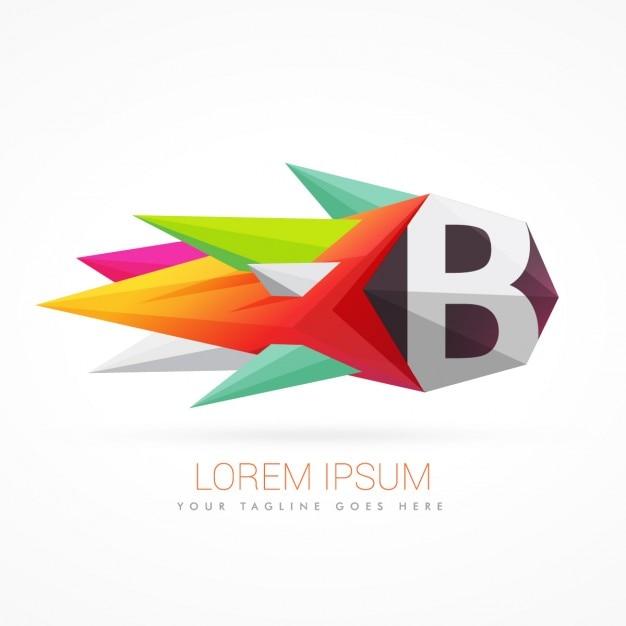 Logo abstracto colorido con la letra b descargar for Logos con letras