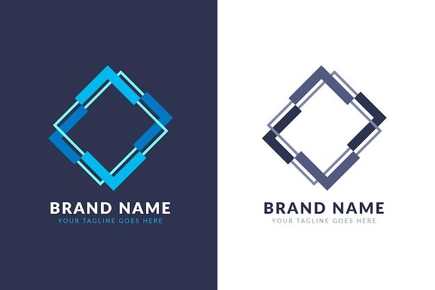 Logo abstracto en concepto de dos versiones Vector Premium