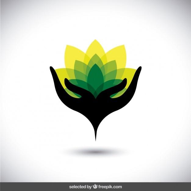 logo abstracto de proteger el medio ambiente descargar