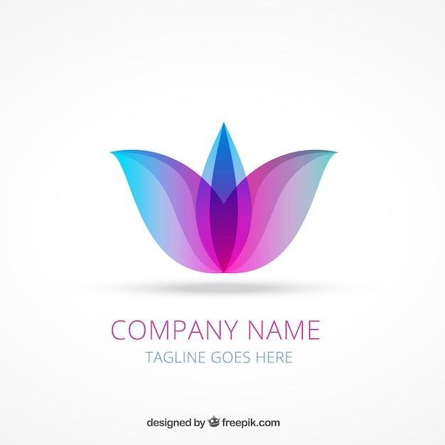Logo abstracto de flor de loto  49c7cb9bba5e