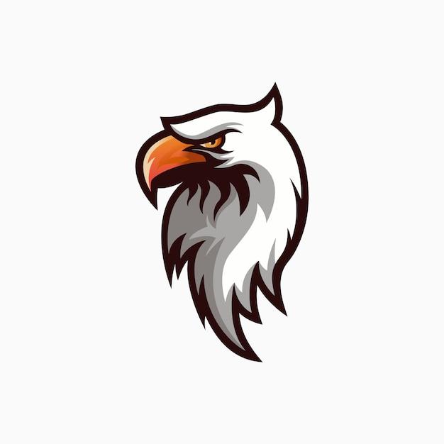 Logo de águila blanca Vector Premium