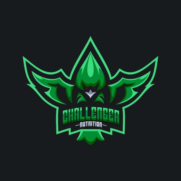 Logo del águila challenger nutrition Vector Premium