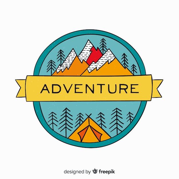 Logo de aventura vintage vector gratuito