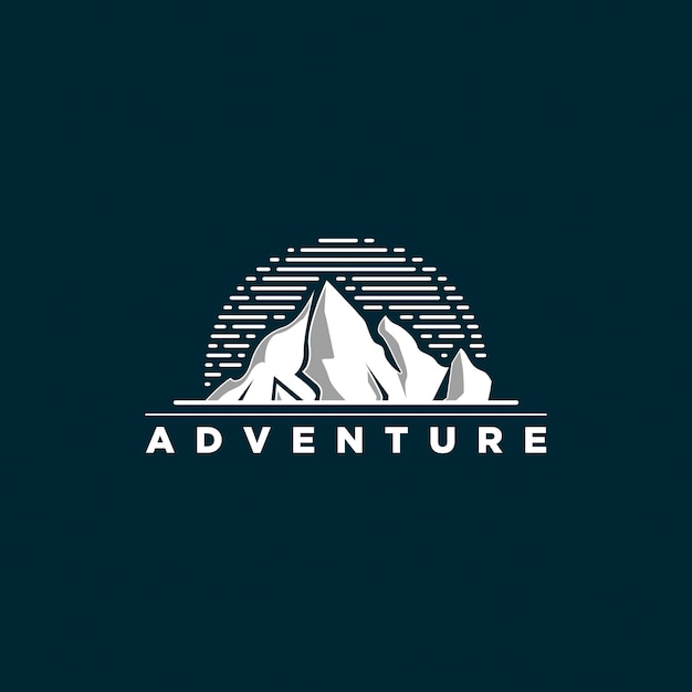 Logo de aventura Vector Premium