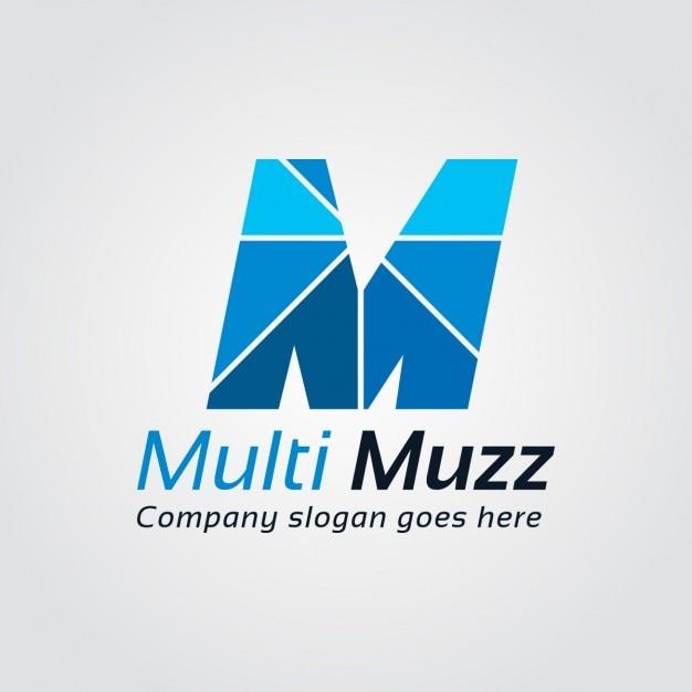 Logo azul de letra m descargar vectores gratis for Logos con letras