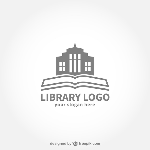Logo biblioteca vector gratuito