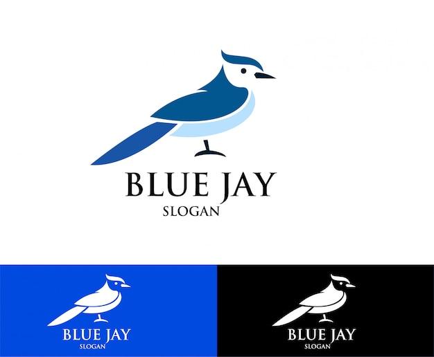 Logo de blue jay bird s Vector Premium