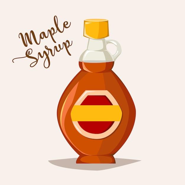 Logo Botella De Jarabe De Arce Caracol De Dibujos Animados Néctar