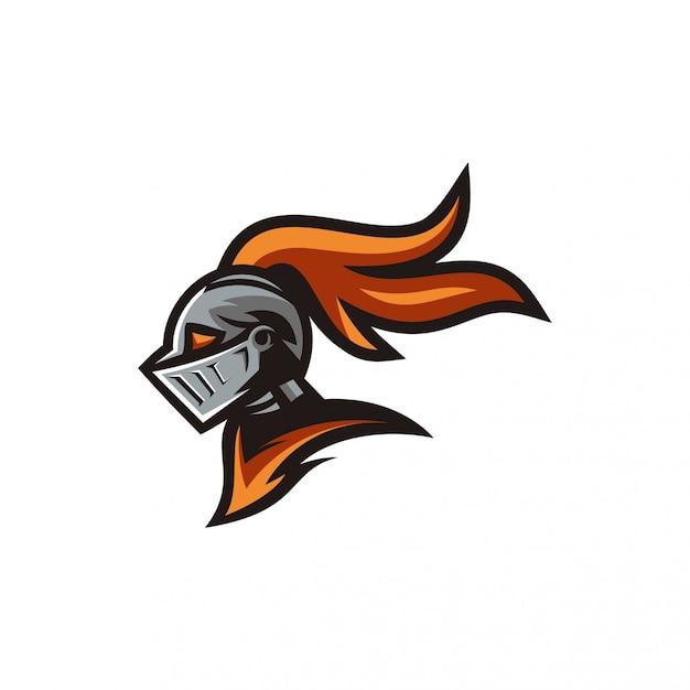 Logo de caballero Vector Premium