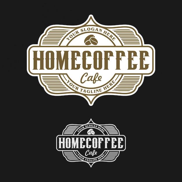 Logo de cafe casero Vector Premium