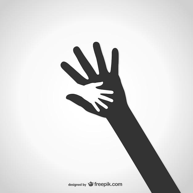 Logo de caridad de manos vector gratuito