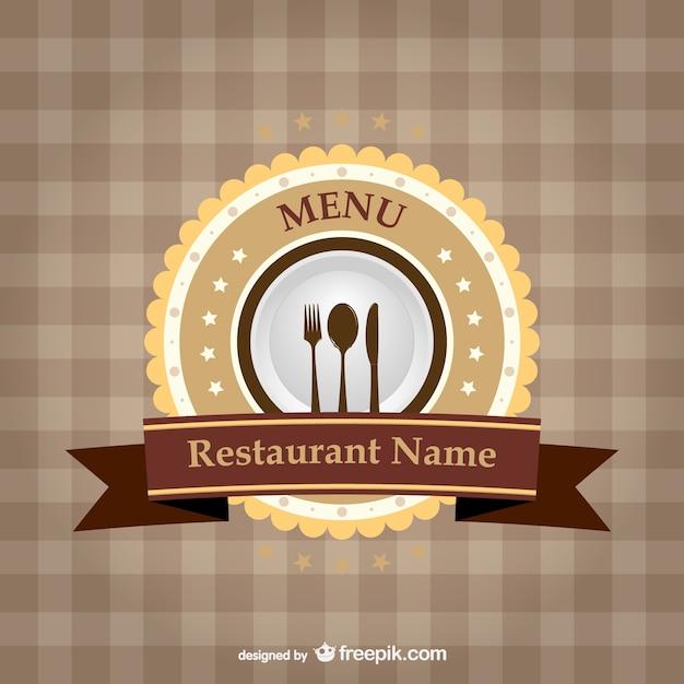 Logo para carta de restaurante vector gratuito