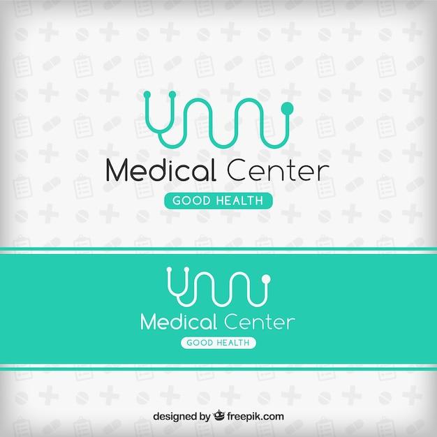 Logo de centro médico Vector Premium