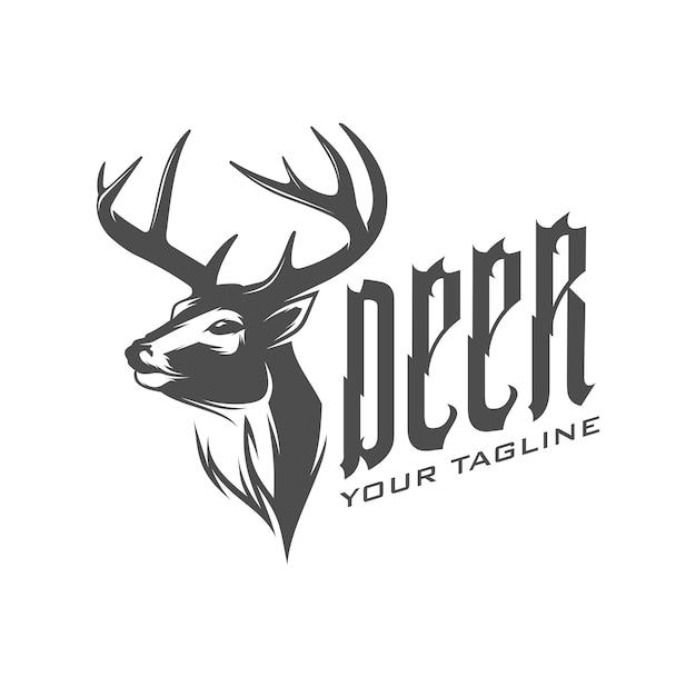 Logo de ciervo Vector Premium