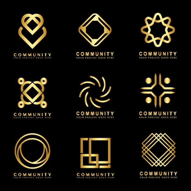 Logo de la comunidad vector gratuito