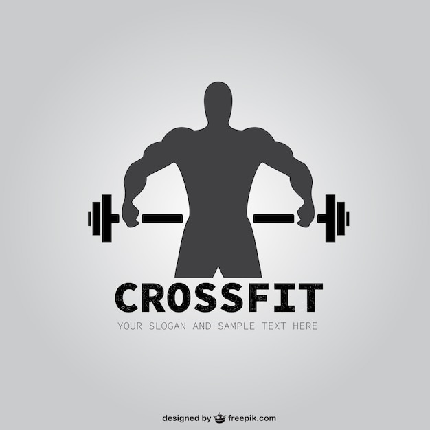 Logo de crossfit Vector Premium