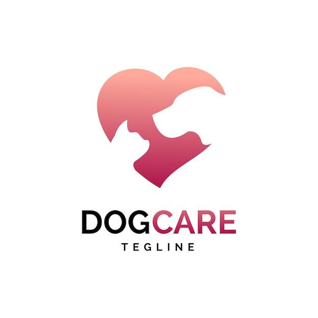 Logo de cuidado de animales Vector Premium