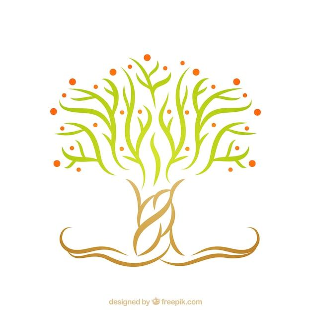 Logo Con árbol Abstracto Descargar Vectores Gratis